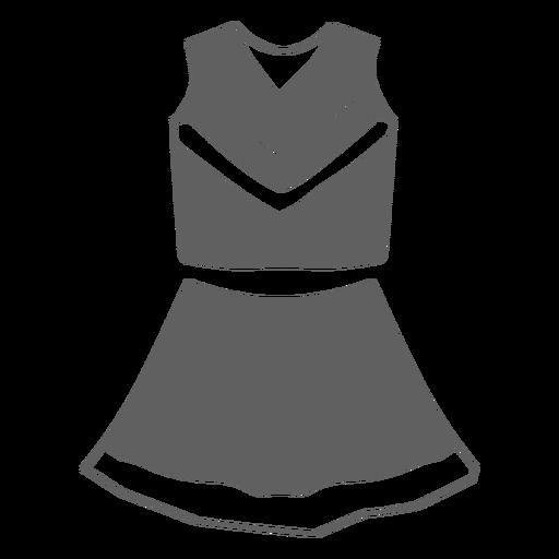 Cheerleader female uniform cut-out