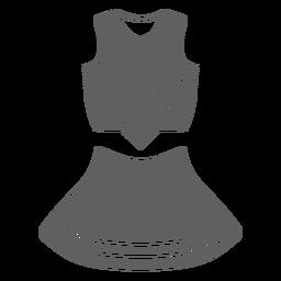 Cheerleader uniform girl cut-out