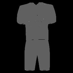 Recorte del uniforme de porristas de los hombres