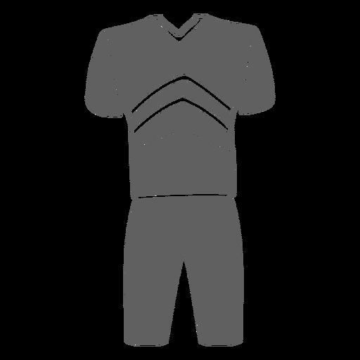 Men's cheerleading uniform cut-out