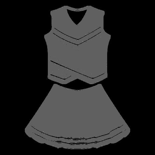Woman's cheerleading uniform cut-out