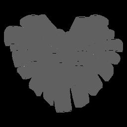 Recorte de pompón en forma de corazón