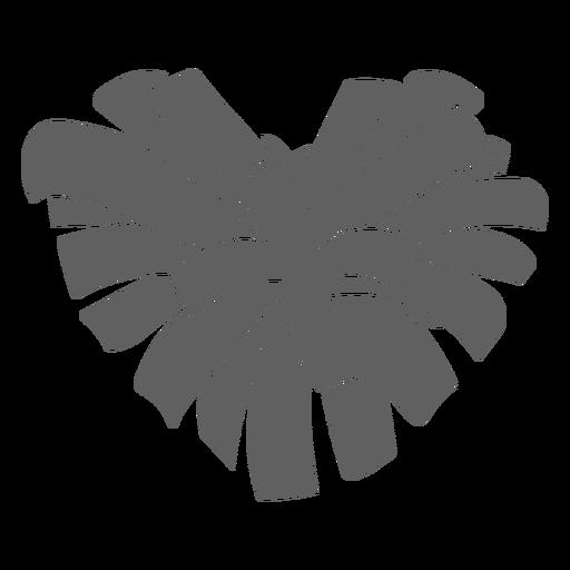 Heart-shaped pom pom cut-out