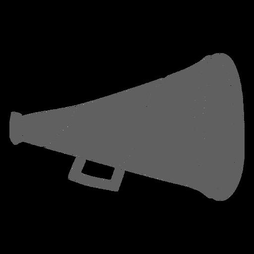 Cone megaphone cut-out