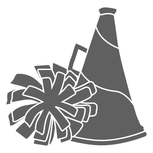 Megaphone and pom pom cut-out