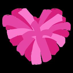 Pompones planos en forma de corazón