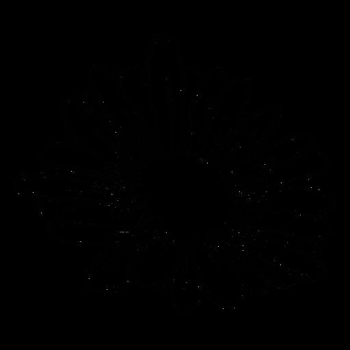 Flor de margarita de trazo