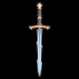 Ilustración de espada medieval