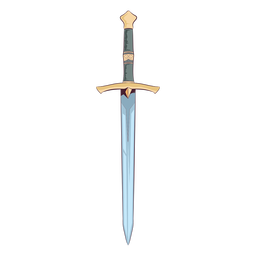 Medieval sword illustration