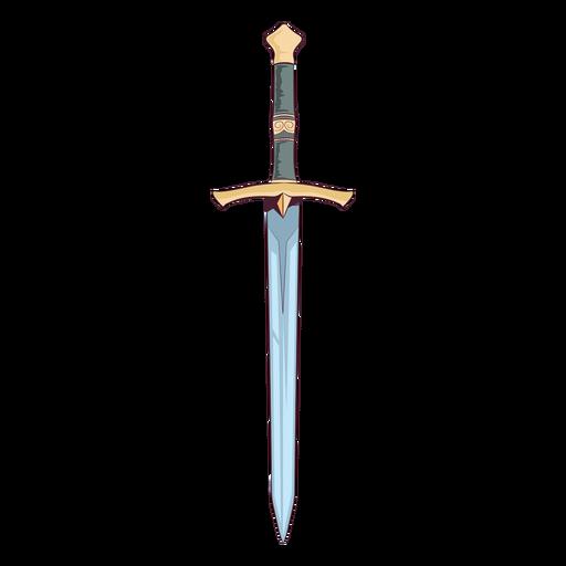Medieval sword illustration