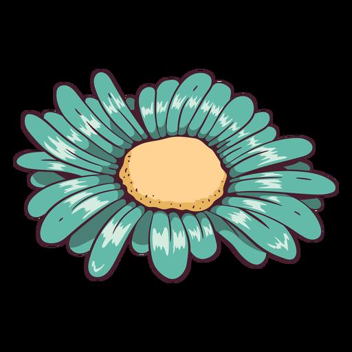 Flor de margarita verde agua