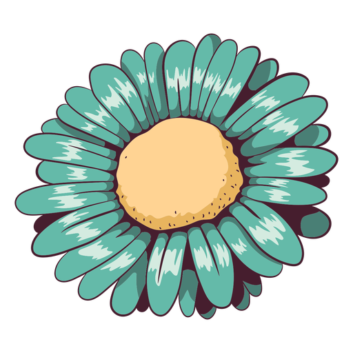 Daisy aqua green flower Transparent PNG