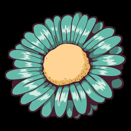 Daisy aqua green flower