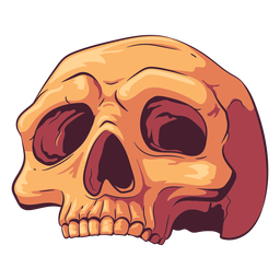 Old skull illustration