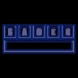 Gamer keyboard badge