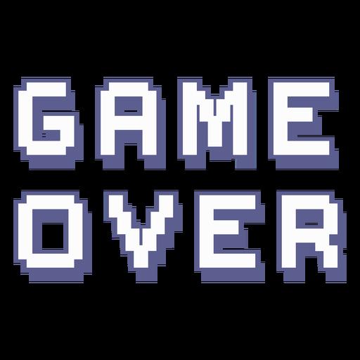 Game over retro lettering