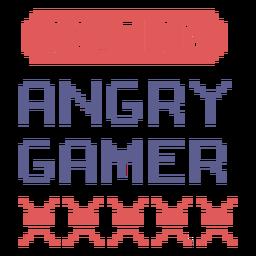 Angry gamer badge