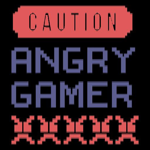 Insignia de jugador enojado