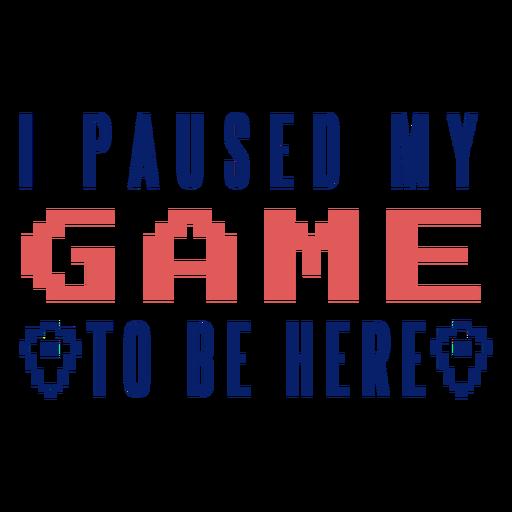 Insignia de juego en pausa Transparent PNG