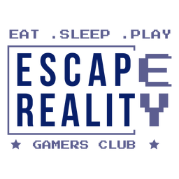 Escape reality gamer club badge