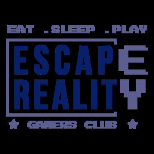 Insignia del club de jugadores de escape reality