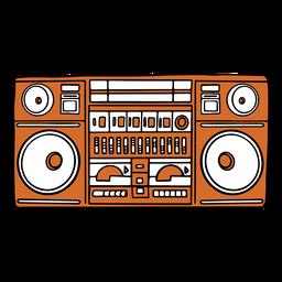 Orange boombox flat