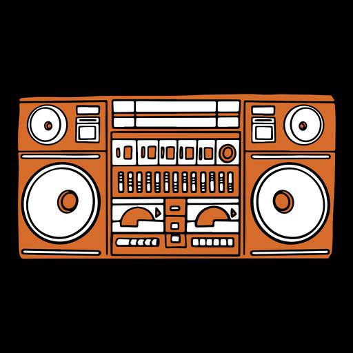 Boombox de música plana