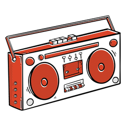 Boombox hip-hop color-trazo