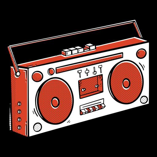 Boombox hip-hop color-stroke
