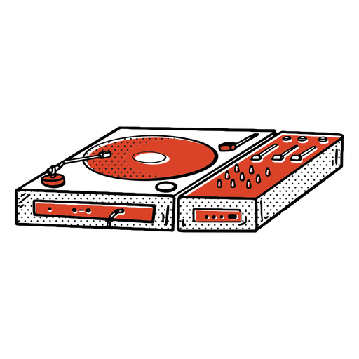 Record player color-stroke Transparent PNG