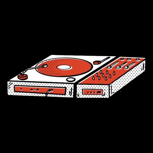 Record player color-stroke