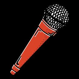 Vintage microphone color-stroke