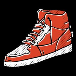 Vintage sneaker color-stroke