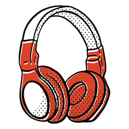 Big headphones color-stroke