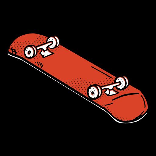 Red skateboard color-stroke