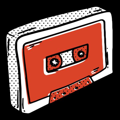 Cassette music color-stroke