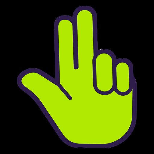 Three fingers up flat