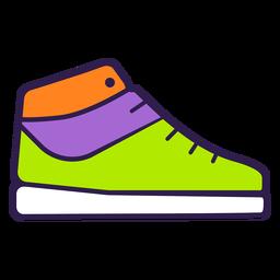 Zapatilla colorida plana