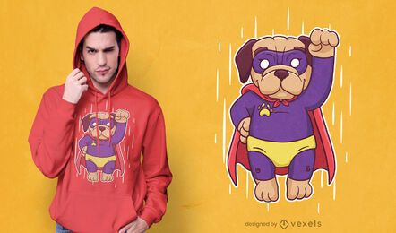 Design de camiseta super pug