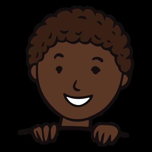 Niño sonriente plano