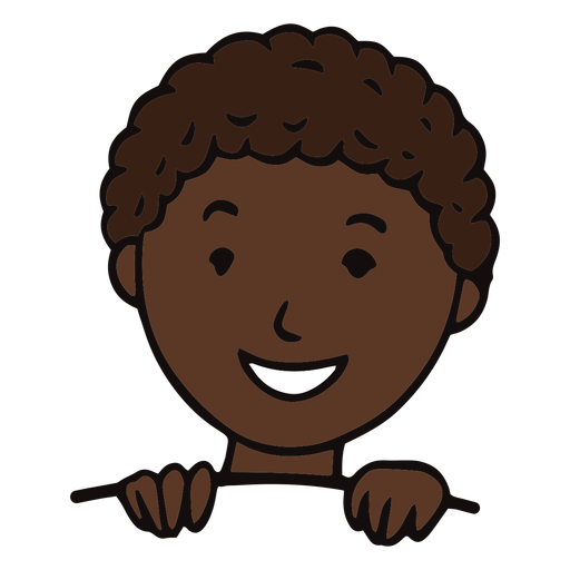 Smiling child flat
