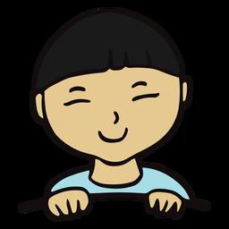 Child smiling flat