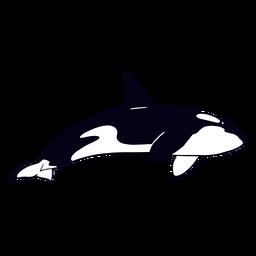 Killer whale filled-stroke
