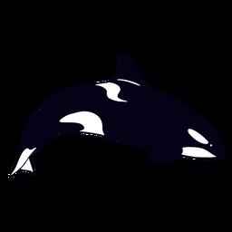 Filled-stroke killer whale