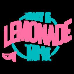 Lemonade time lettering