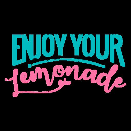 Disfruta tus letras de limonada Transparent PNG