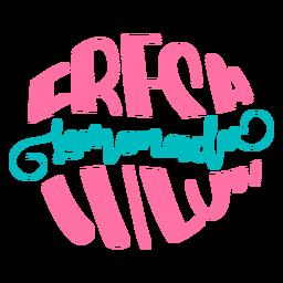 Fresh lemonade quote lettering