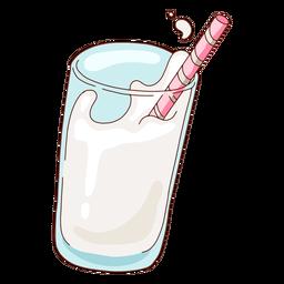 Glass of milk illustration