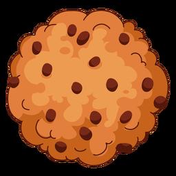 Chocolate chip cookie illustration