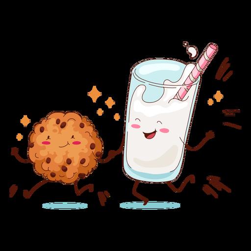 Cookie and milkshake characters